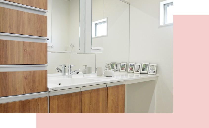 岸和田市春木若松モデルハウス 洗面