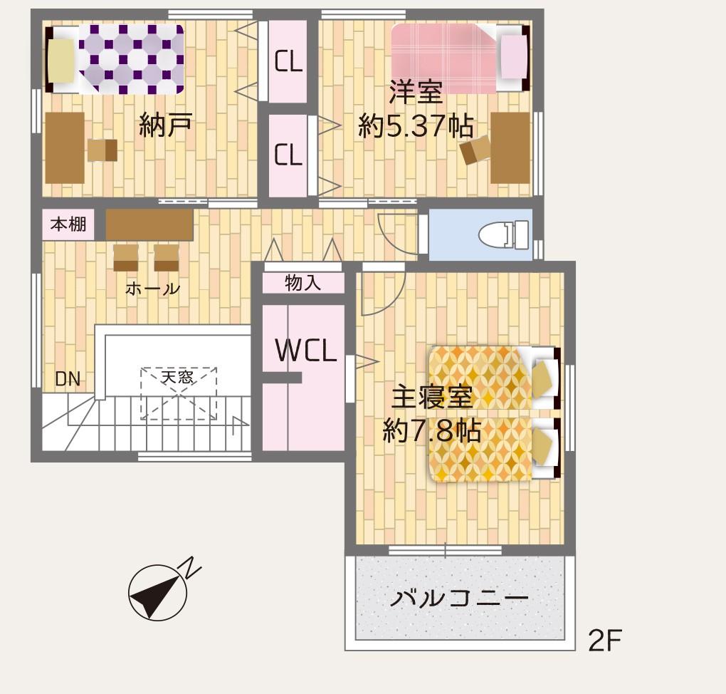 岸和田市春木若松モデルハウス 間取り図 2階