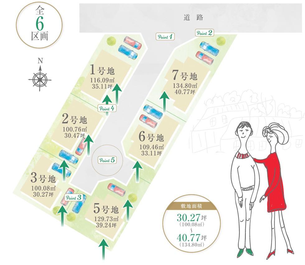 岸和田市上野町西 新築戸建 区画図