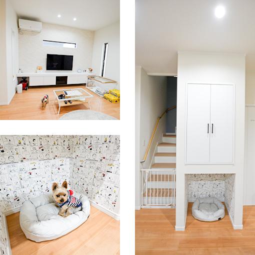 お客様の声 愛犬とともに暮らすスタイリッシュモダンで温かみのある家(岸和田市宮前町 H様邸)